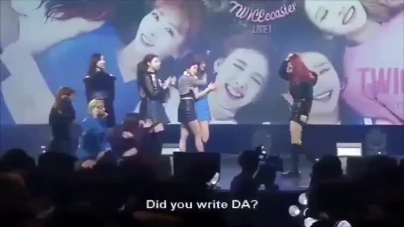 I still can't forget when Dahyun had to write her name with her head, but she turned it into something sexy lmao she's so extra