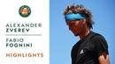 Alexander Zverev vs Fabio Fognini Round 4 Highlights Roland Garros 2019
