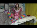 Diaper Plastic Pants ABDL girl in PVC Romper