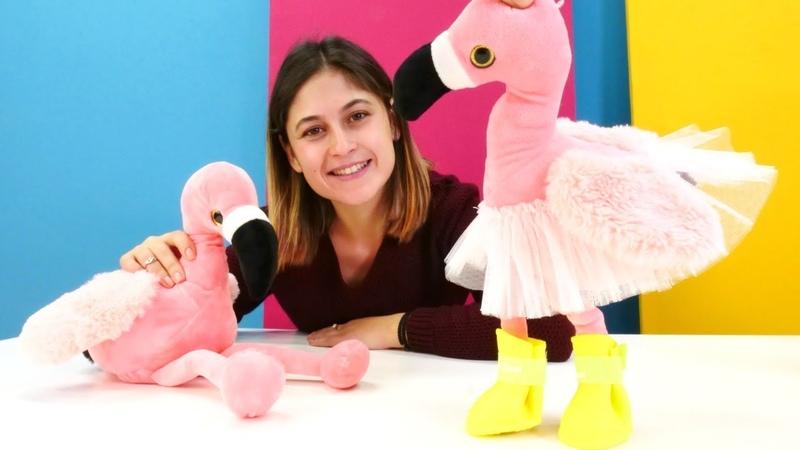 Ayşe ile çocuk videoları. Oyuncak flamingo bakıcısı