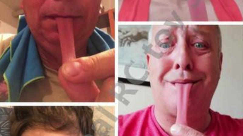 Magic tricks whole person false simulation tongue