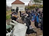 French Anti-Riot-Police treats protesting students like criminals. Saint Exupery high school