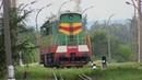 Тепловоз ЧМЭ3 4518 на 1435мм на ст Унгены CME3 4518 on 1435mm gauge at Ungheni station