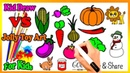 Draw Cute Vegetable Fruit Book | PlayDoh Toys Kids Tv Vs Jolly Toy Art ☆ Coloring Pages 234