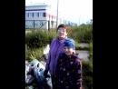 Артём и его бабушка участвуют в трудовой акции.