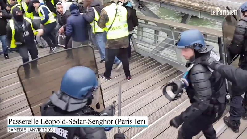 2019 Paryż Francuski Bokser Christophe Dettinger Robi Porządek Z Psiarskimi HIT HD
