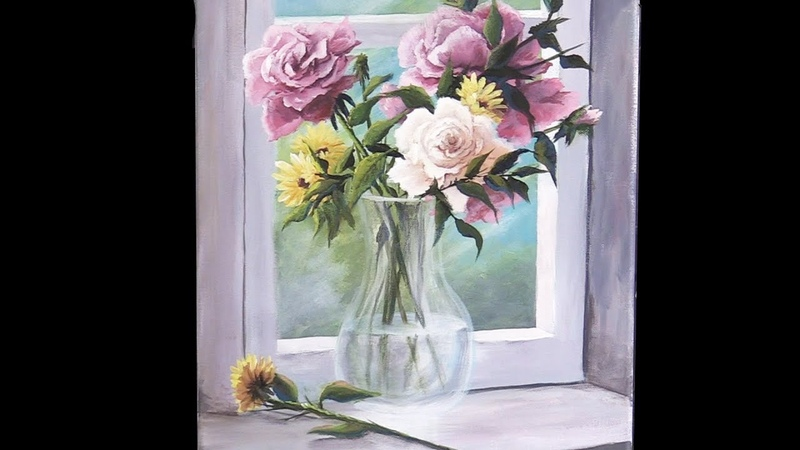 Acrylic Flowers in a Vase | Paint with Kevin ®