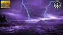 Ночной Шторм в Море с Дождем Раскаты Грома и Шум Ветра 3 Часа Сна и Релакса