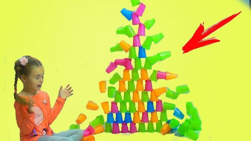 5 способов сломать пирамиду из стаканчиков. ЧЕЛЛЕНДЖ Попробуй не засмеяться! Вызов принят.