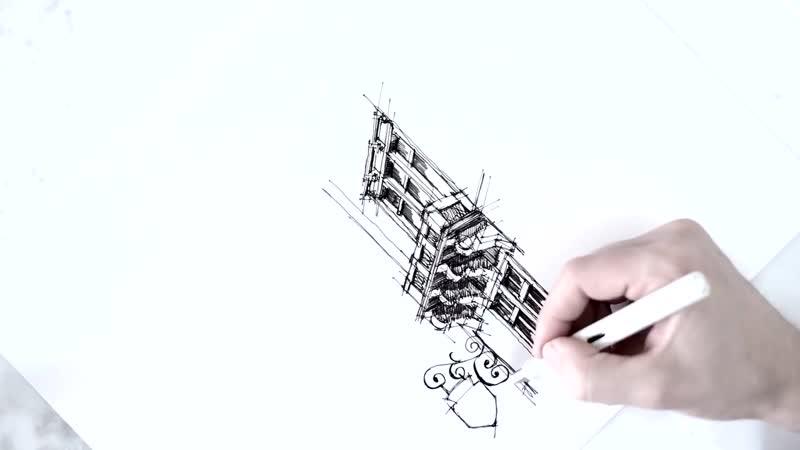 Transylvania architectural drawing Dan Hogman