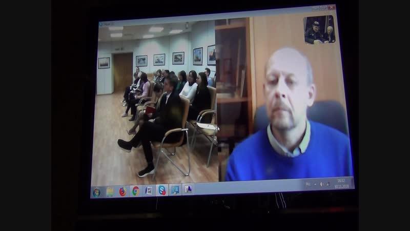 Видеоконференция Москва-Дудинка-Красноярск. Выступление Черникова Владимира Васильевича