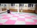 Тренировка по Ушу 18 09 18 Захват за ногу и подножка