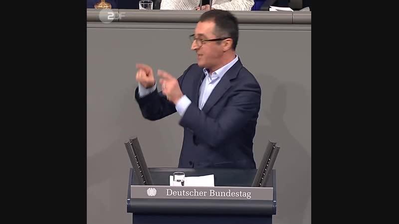 ZDF heute - _Rede des Jahres 2018_ Cem Özdemir am 22. Februar