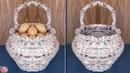 Multi Use... Vegetables Fruit Basket DIY Kitchen Organizer Newspaper Craft