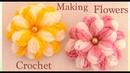 Como hacer flores de colores en 3D a Crochet paso a paso tejido tallermanualperu