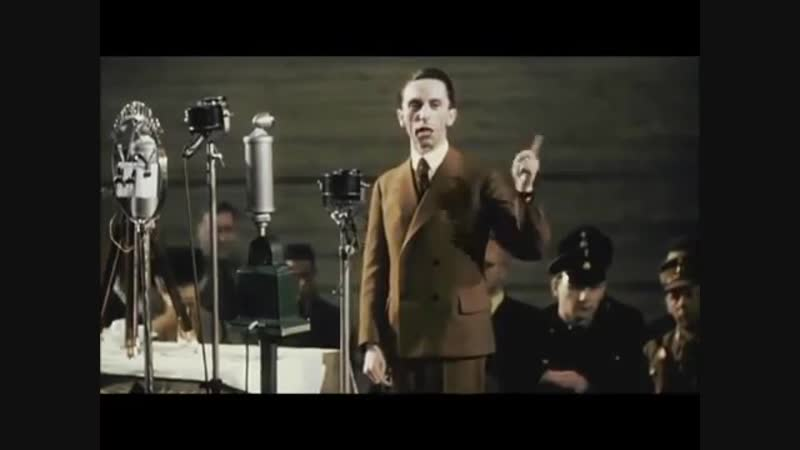 Adolf Hitler and Joseph Goebbels give a speech excerpts from speeches