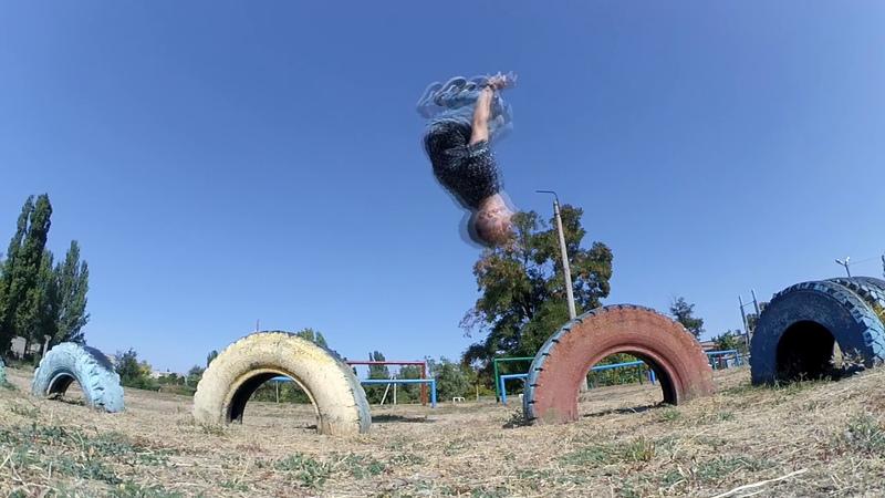 Acrobatics, triking, 3run ( Anton Fokin and Timon )
