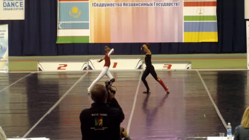 Чир-джаз двойка 1 место Кубок стран СНГ г.Губкин