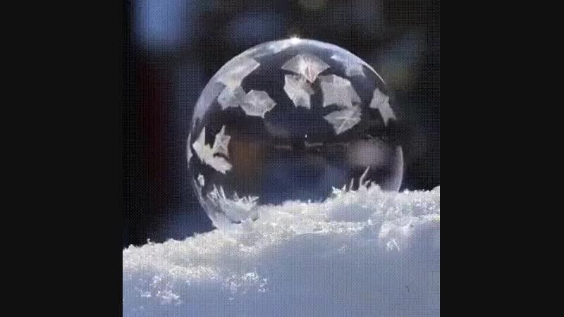 Что будет с мыльным пузырем при температуре -30