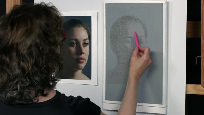 Рисование женского портрета пастелью с Эллен Игл