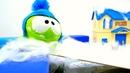 Giochi per bambini. Una giornata di neve. Om Nom episodi