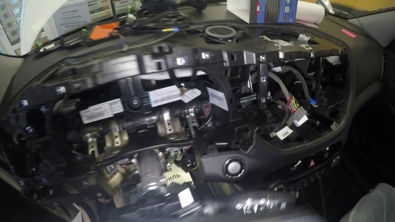 Hyundai Tucson Пример разбора салона для скрытой установки