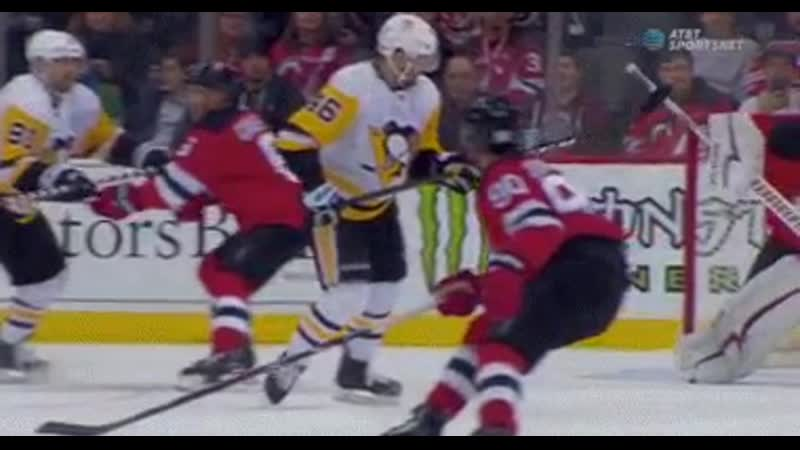 Pittsburgh Penguins - Watch closely - this puck dips and dives right into the net.