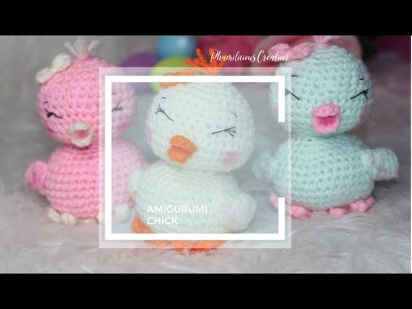 AMIGURUMI CHICKS HAPPY EASTER