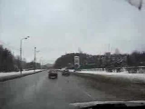 Зима Зеленоград A Drive Through Winter Zelenograd Moscow