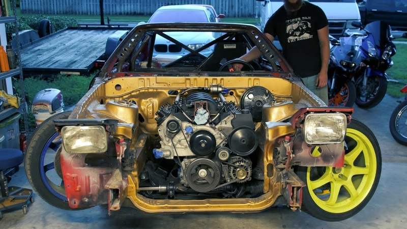 V8 Swapped Supra Drift Car FAT Angle Kit Install feat. KTM RC390