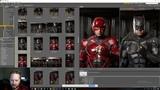 BatmanFlashWatchmen Crossover Photoshop Workflow