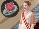 Nicole Kidman Pigeon Blood Red Collector's Burma Ruby &amp NEAR FLAWLESS Diamond Ring AUCTION