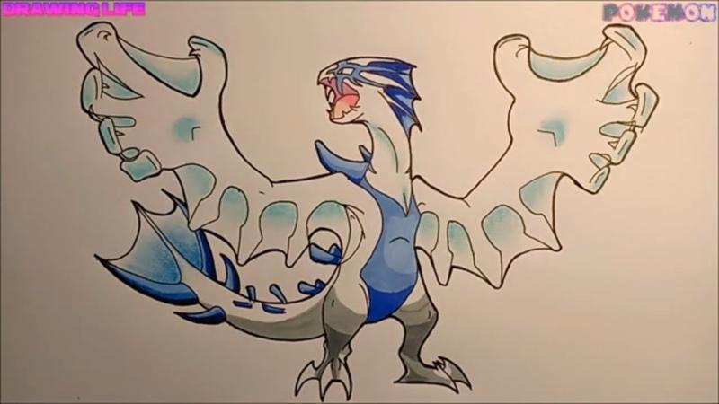 Cách vẽ Mega Lugia pokemon huyền thoại thật đơn giản-Bảo Bối Thần Kỳ