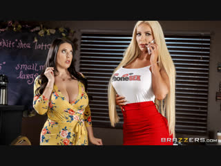 [brazzers] angela white, nicolette shea - caught talking dirty new porn 2018