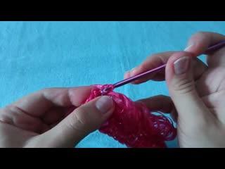Мочалка крючком. Как научиться вязать крючком Вязание крючком