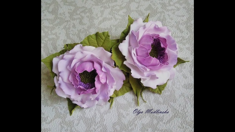 цветочки из фоамирана на резинках