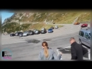 Moment a Lamborghini has a spectacular crash during a race in the Swiss Alps