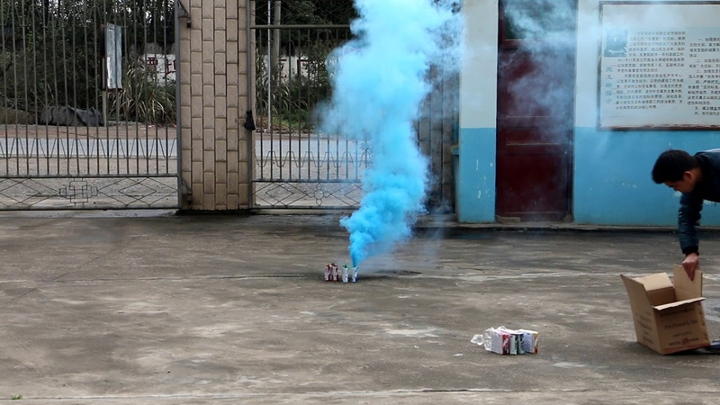 Дымовой фонтан синий MA0509 B Maxsem