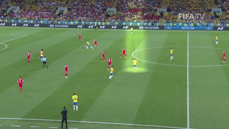 Роль плеймейкера Филиппе Коутиньо в матче Бразилия - Сербия