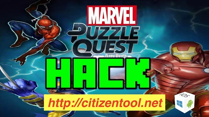 MARVEL PUZZLE QUEST HACK/CHEAT FREE GEMS COINS - HOW TO GET FREE GEMS COINS IN MARVEL