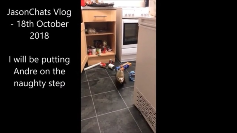 JasonChats Vlog - 18th October 2018 - I will be putting Andre on the naughty step