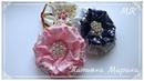 МК Красивые цветочки из репсовой ленты 🏵️8 см/ DIY flores de representantes/DIY flowers from reps