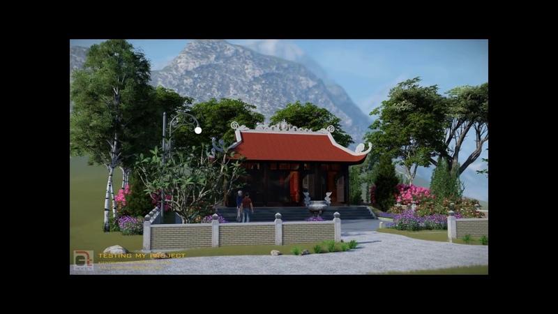 Small pagoda in Viet Nam