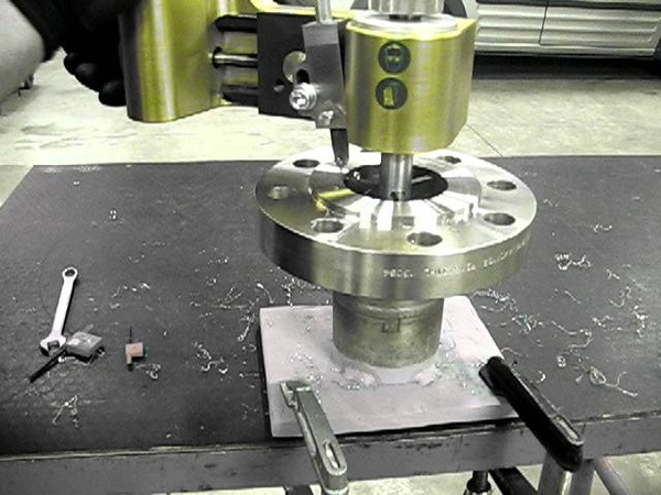 Flange facing made easy