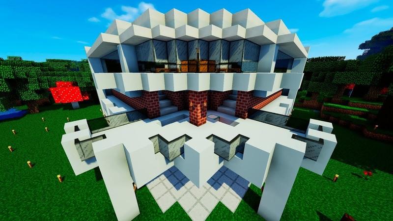 Minecraft Lets Play → 002: Построили свои дома. Осушили подводный храм