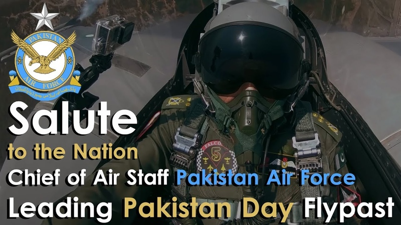 Salute to the Nation Chief of Air Staff PAF leading Pakistan Day Flypast | Parade 23 March 2018