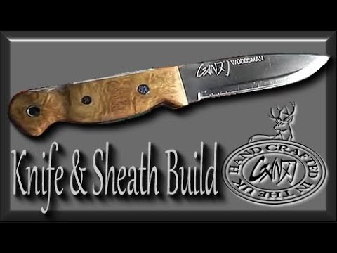 HOW TO MAKE A BUSHCRAFT KNIFE SHEATH FROM START TO FINISH