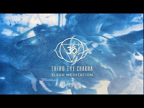 Third Eye Chakra Sleep Meditation || 432hz || Kalimba Rainstick Ambient Meditation Music