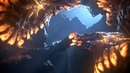 Cinema4D - vertex map growth test and some creatures in a cave