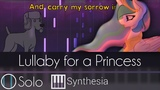 Lullaby for a Princess - SOLO PIANO TUTORIAL w LYRICS - Ponyphonic -- Synthesia HD
